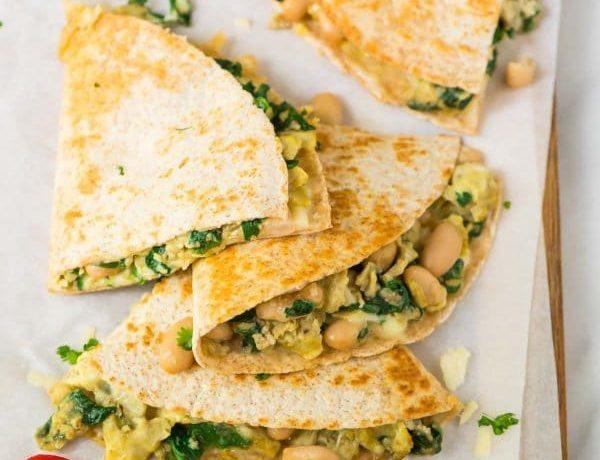 CrossFit Soda City Macro Monday Recipe Chicken & Spinach Breakfast Quesadillas