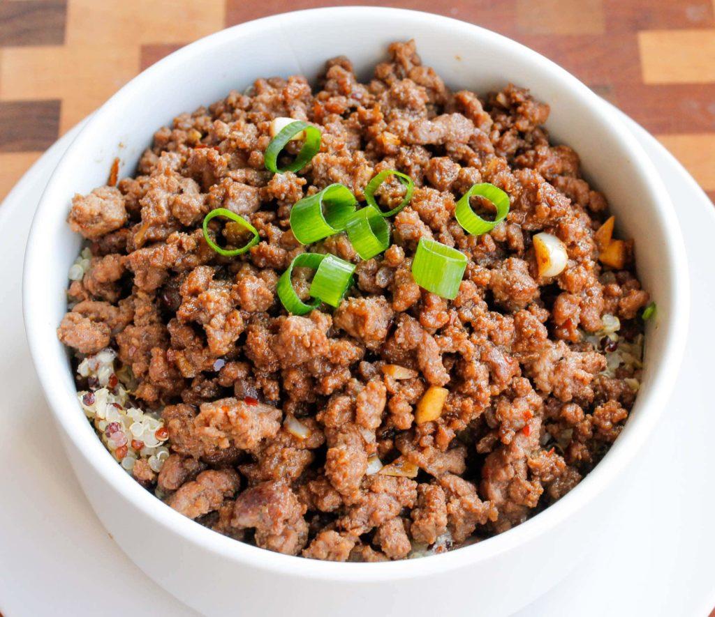 CrossFit Soda City Macro Monday Recipe - Quick & Easy Quinoa and Korean Beef Bowl