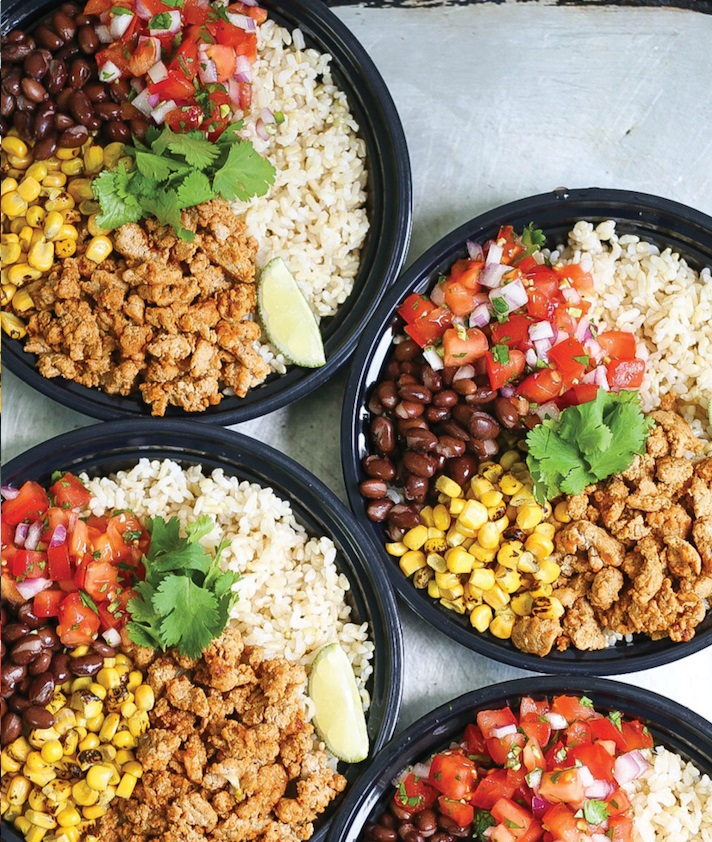 CrossFit Soda City Macro Monday Recipe - Easy Chicken Burrito Bowls
