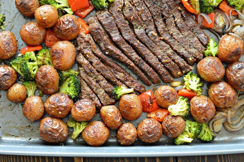 CrossFit Soda City Macro Monday Recipe - Flank Steak With Garlic Roasted Potatoes