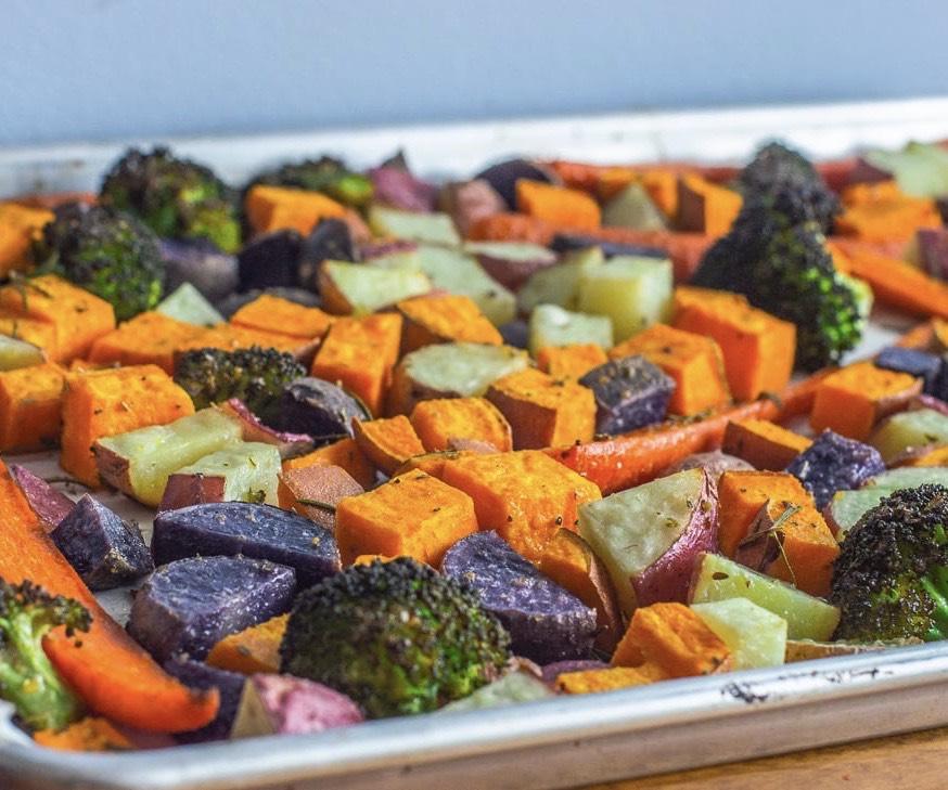 CrossFit Soda City Macro Monday Recipe - Meal Prep Roasted Potatoes & Veggies