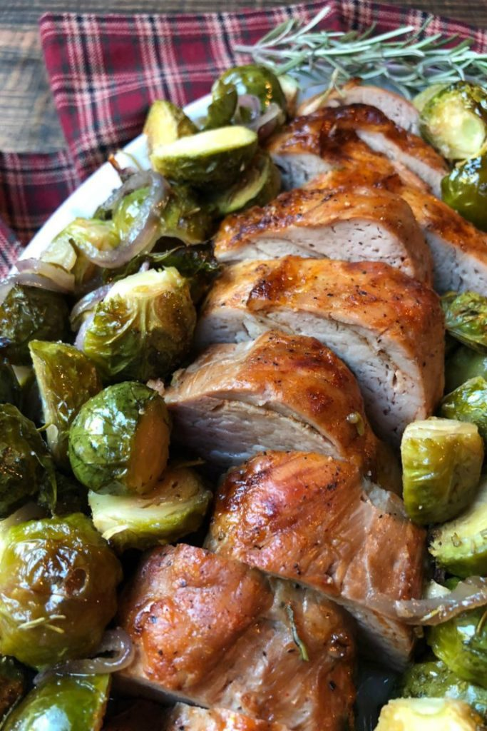 CrossFit Soda City Macro Monday Recipe - Pork Tenderloin with Maple Rosemary Brussels Sprouts