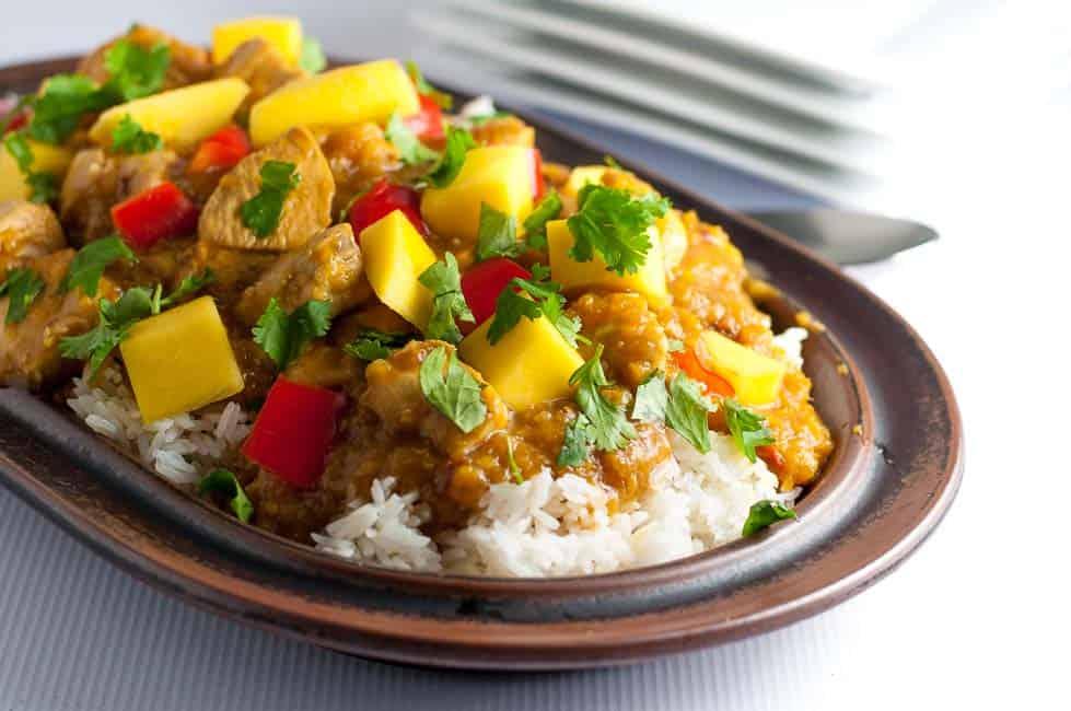 CrossFit Soda City Macro Monday Recipe - Slow Cooker Thai Mango Chicken