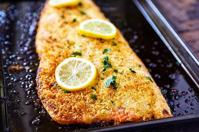 CrossFit Soda City Macro Monday Recipe - Panko Crusted Salmon Filet