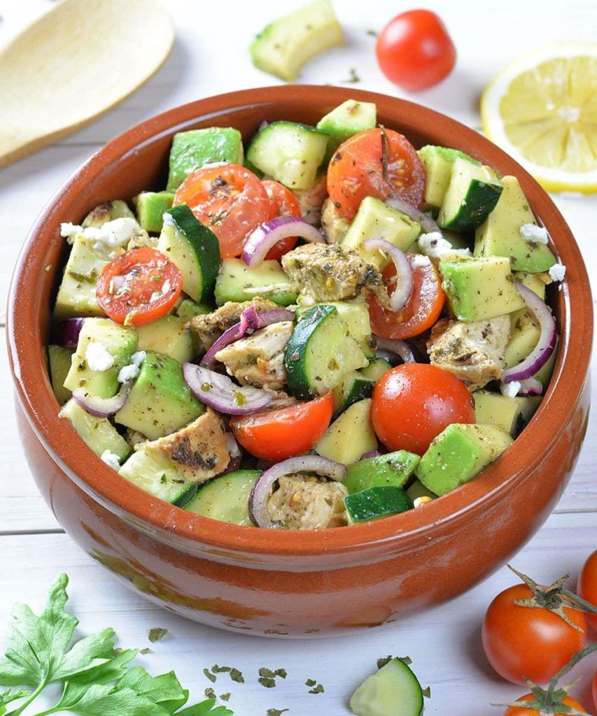 CrossFit Soda City Macro Monday Recipe - Chicken, Cucumber, Tomato and Avocado Salad