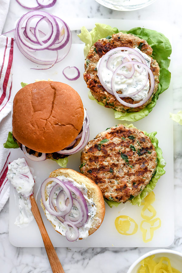 CrossFit Soda City Macro Monday Recipe - Greek Turkey Burgers with Tzatziki Sauce