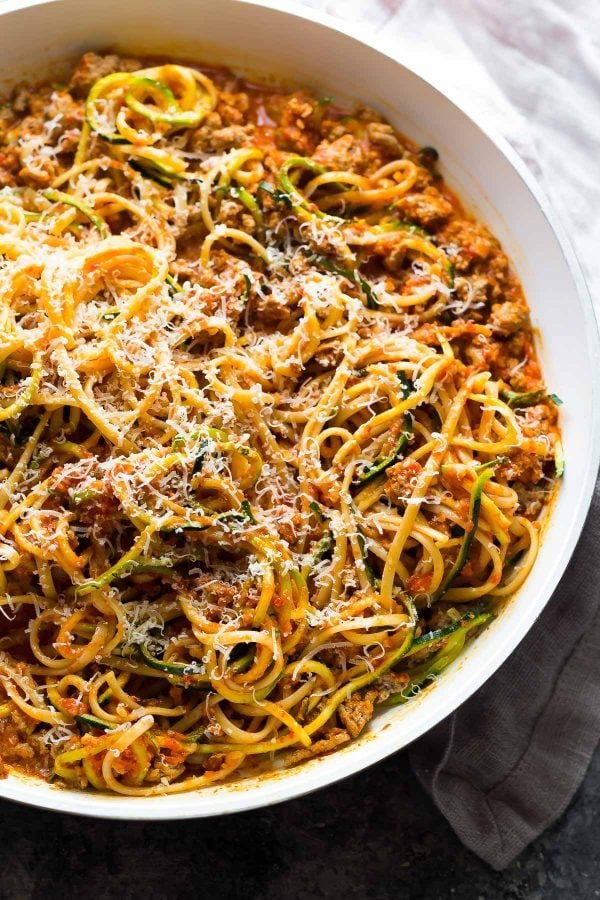 CrossFit Soda City Macro Monday Recipe - Ground Turkey Pasta with Roasted Red Pepper Sauce