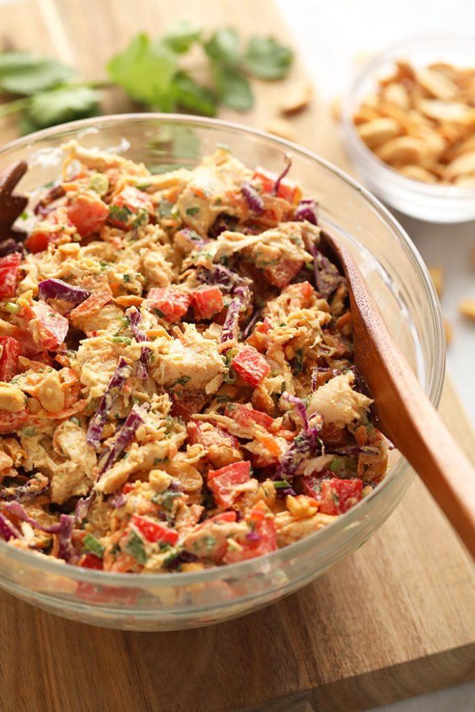 CrossFit Soda City Macro Monday Recipe - Thai Peanut Chicken Salad