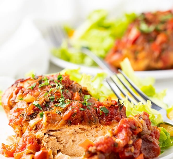 CrossFit Soda City Macro Monday Recipe - Slow Cooker Chicken Cacciatore.
