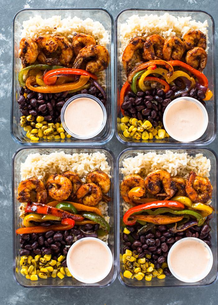 CrossFit Soda City Macro Monday Recipe - Spicy Blackened Shrimp Burrito Bowls