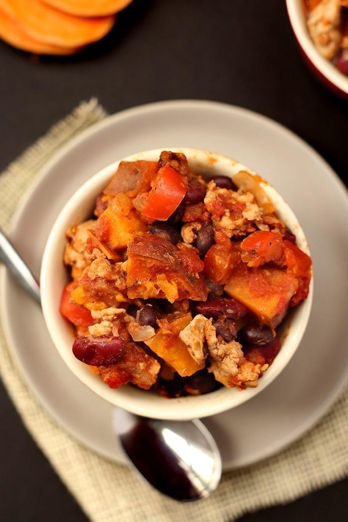 CrossFit Soda City Macro Monday Recipe - Easy Sweet Potato Turkey Chili