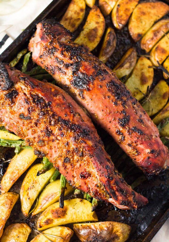 CrossFit Soda City Macro Monday Recipe - One Pan Roasted Pork Tenderloin With Veggies