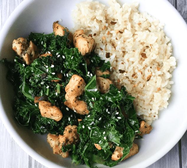 CrossFit Soda CIty Macro Monday Recipe - 15-minute Chicken & Kale Stir Fry