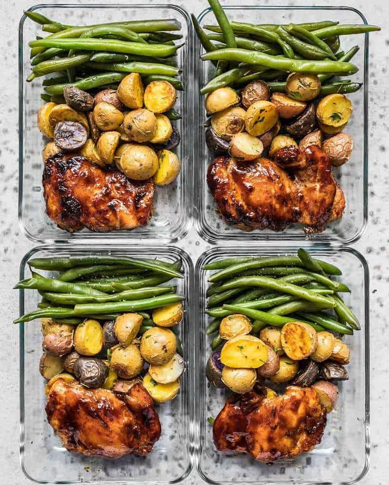 CrossFit Soda City Macro Monday Recipe - Glazed Chicken With Rosemary Roasted Potatoes