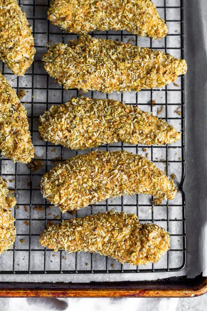 CrossFit Soda City Macro Monday Recipe - Pistachio Crusted Chicken Tenders