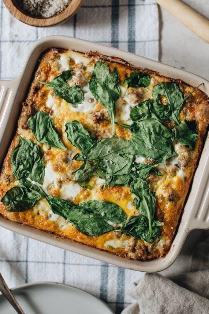 CrossFit Soda City Macro Monday Recipe - Easy Spinach Turkey Breakfast Bake