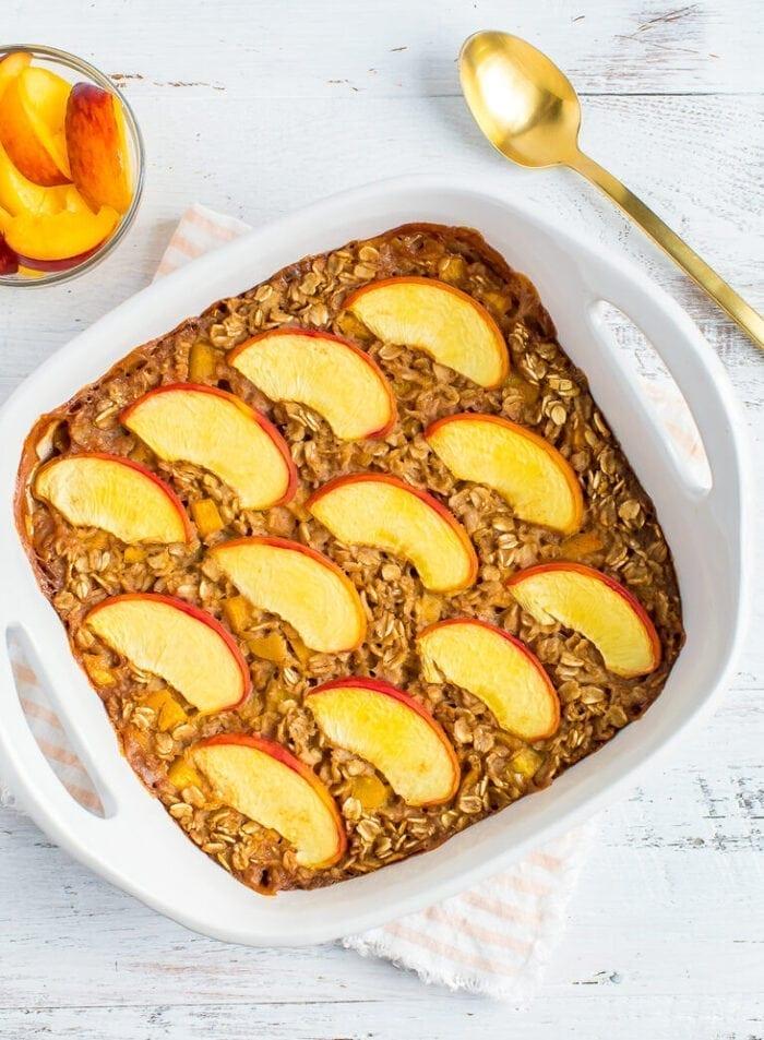 CrossFit Soda City Macro Monday Recipe - Peach Baked Oatmeal