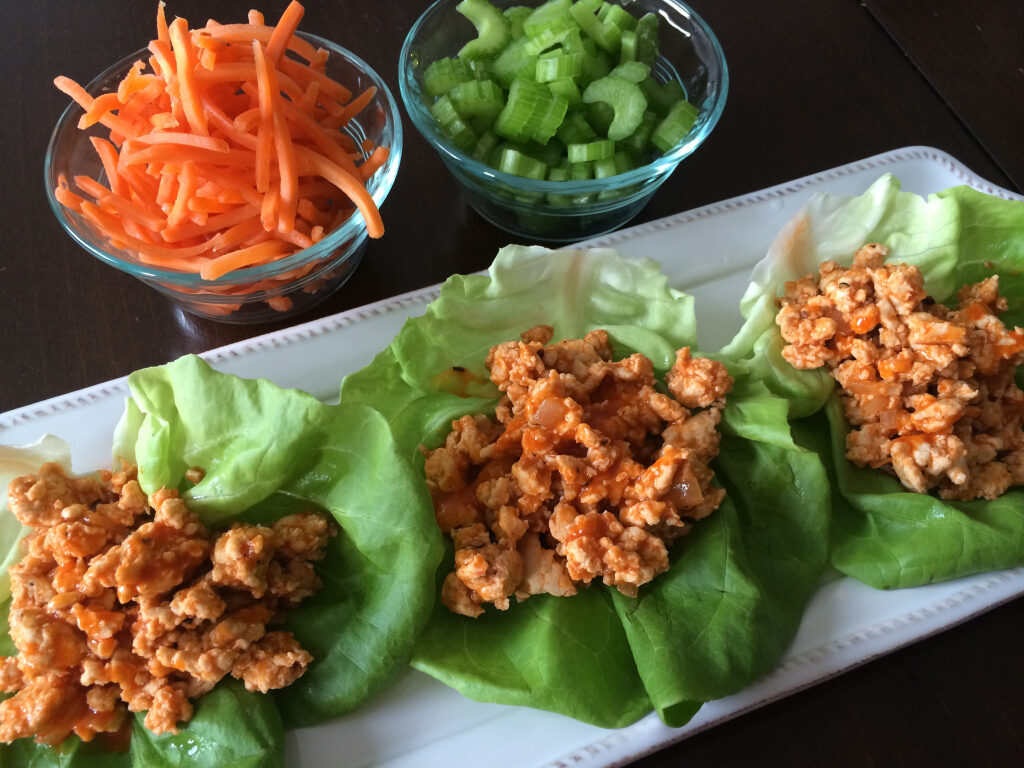 CrossFit Soda City Macro Monday Recipe - Buffalo Turkey Lettuce Wraps