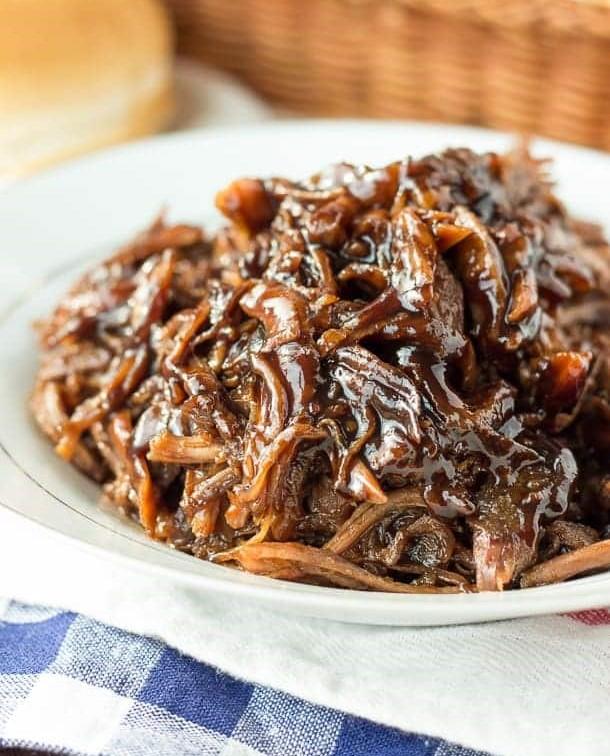 CrossFit Soda City Macro Monday Recipe - Slow Cooker Honey Balsamic Pulled Pork