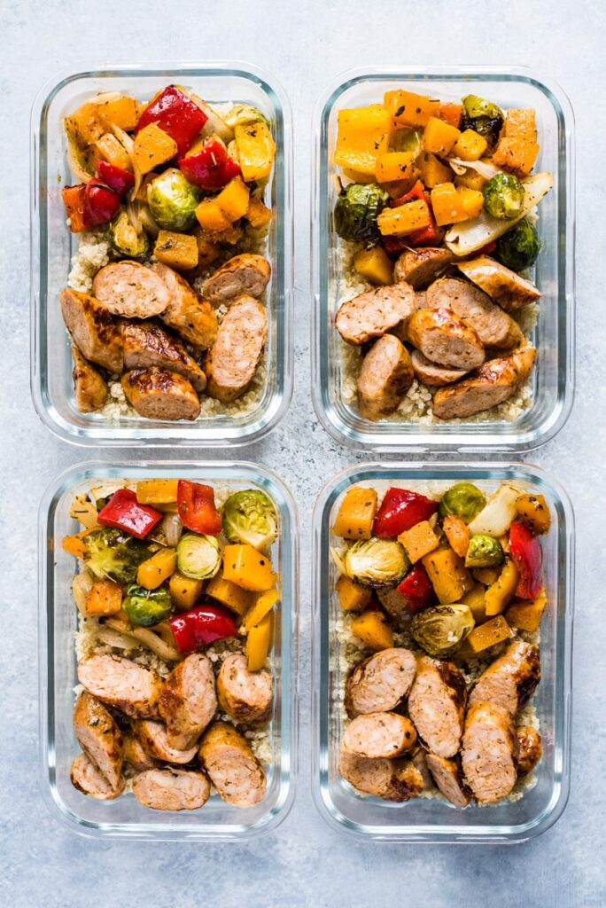 CrossFit Soda City Macro Monday Recipe - Sheet Pan Chicken Sausage and Autumn Veggies