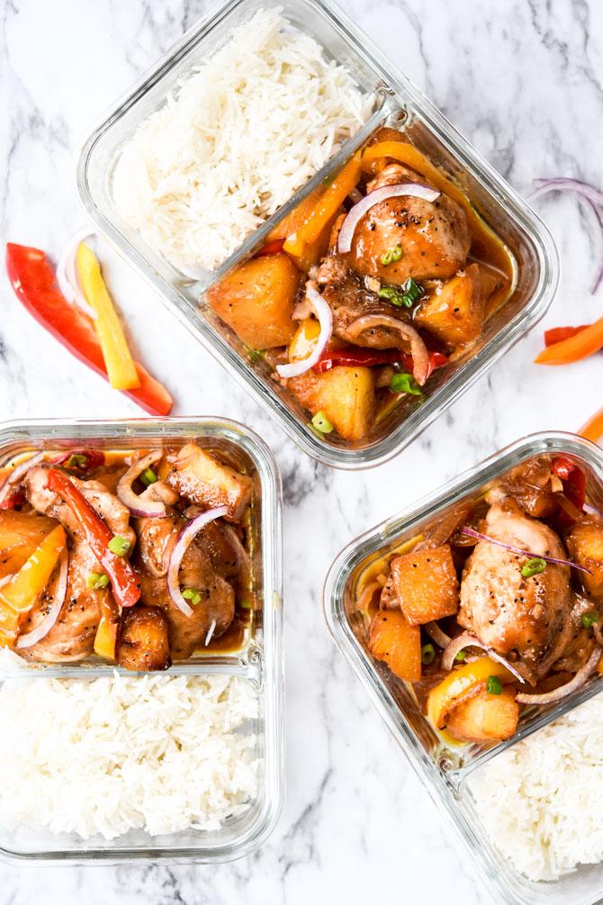 CrossFit Soda City Macro Monday Recipe - Sheet Pan Hawaiian Chicken