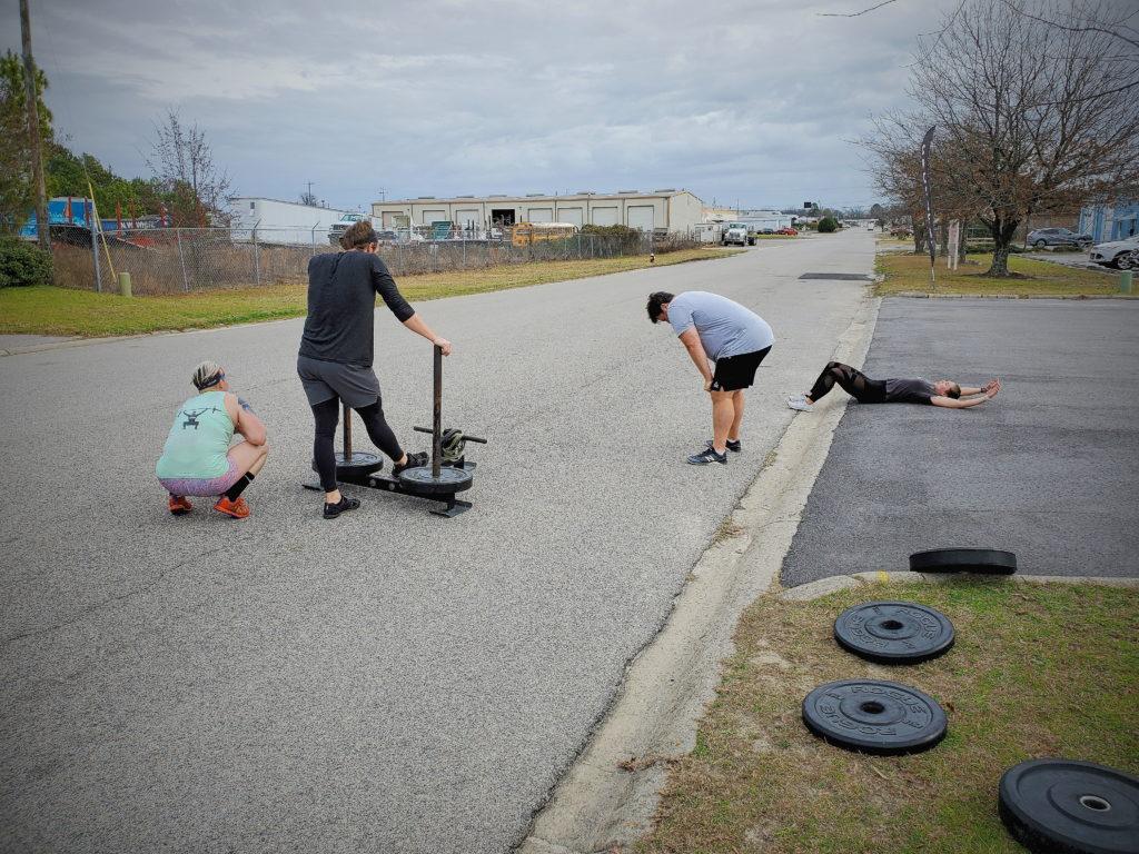 CrossFit Soda City Members putting in the work.