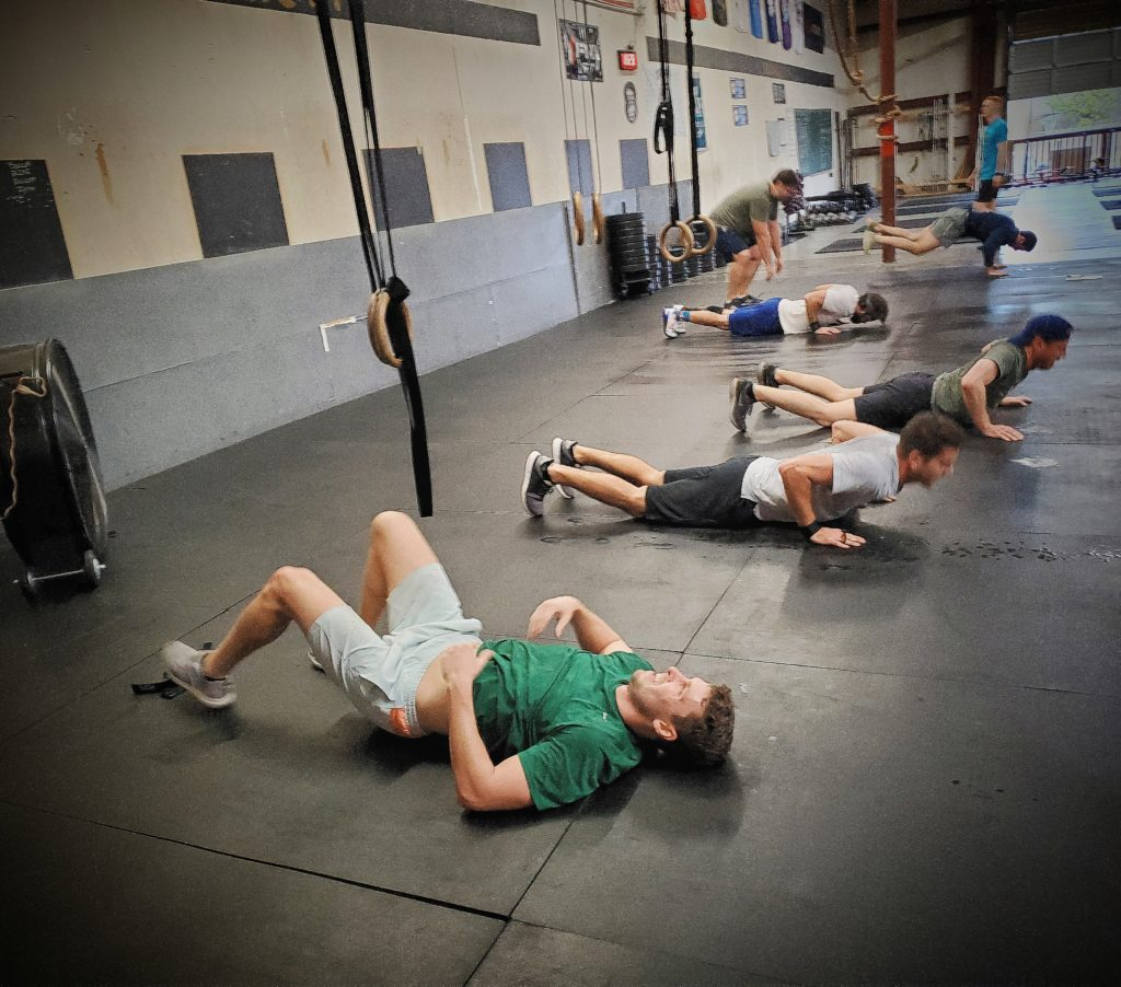 CrossFit Soda City grinding through this humidity!