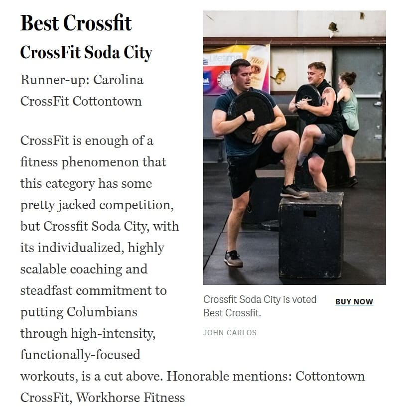 CrossFit Soda City - BEST CROSSFIT 2019
