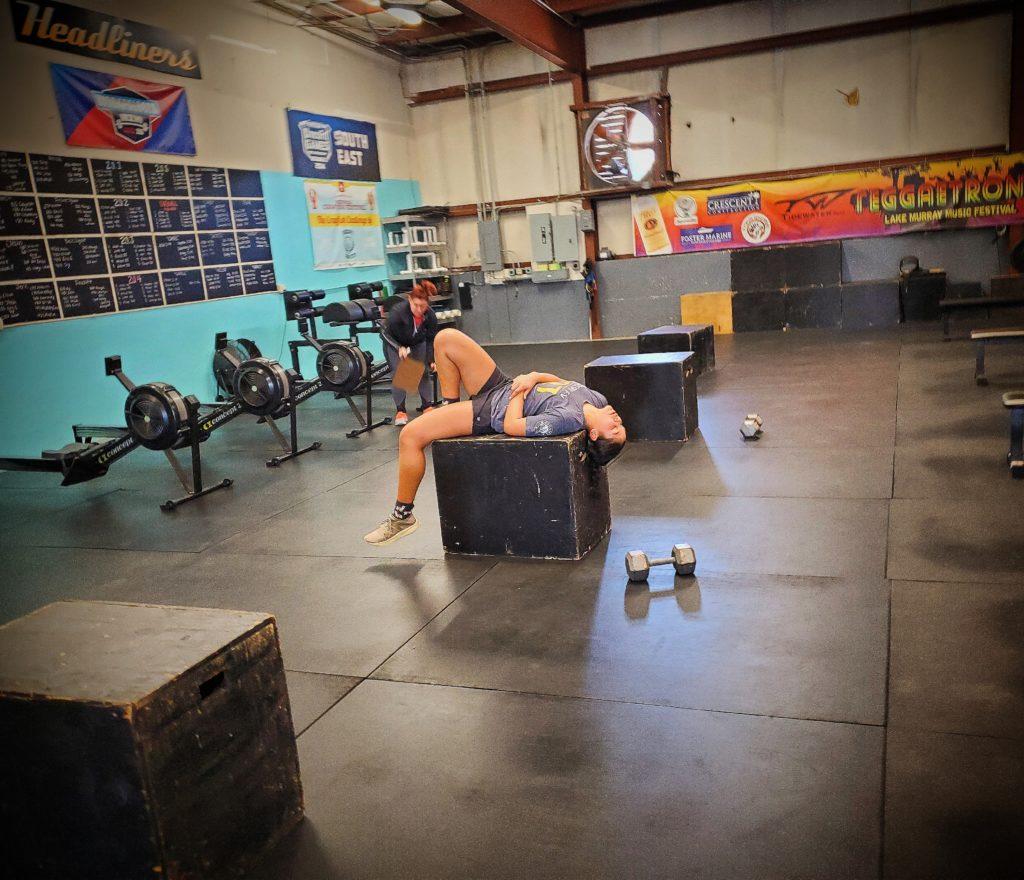 CrossFit Soda City Member Bree taking a nap