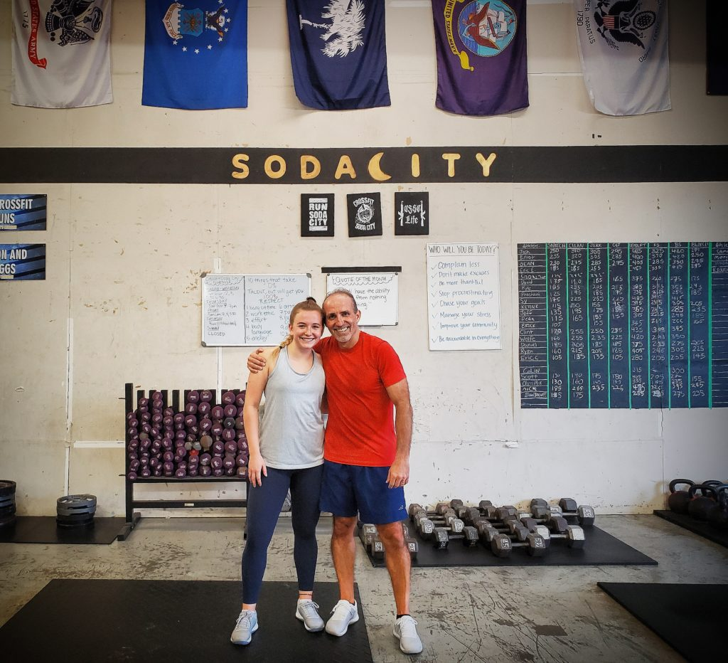 CrossFit Soda City Member Gillian B. and father Gottfried