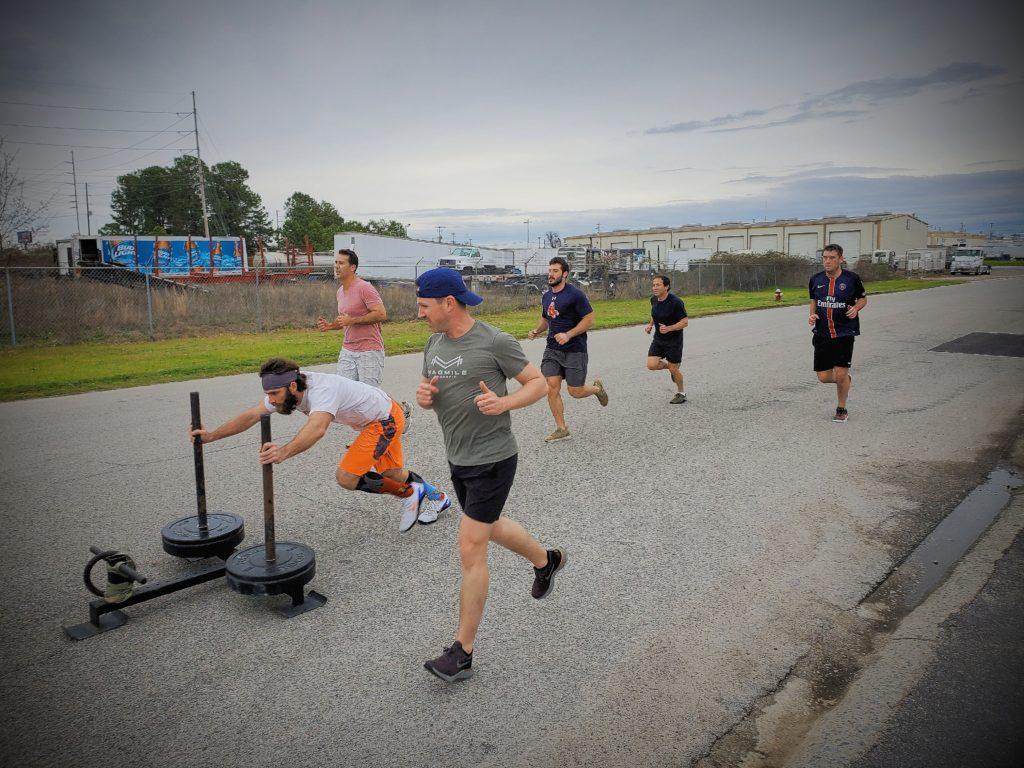 CrossFit Soda City Members doing the work.