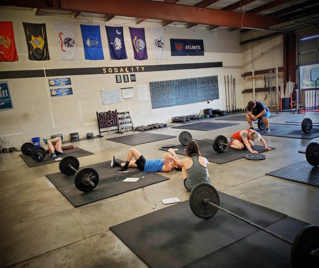 CrossFit Soda City Members post WOD