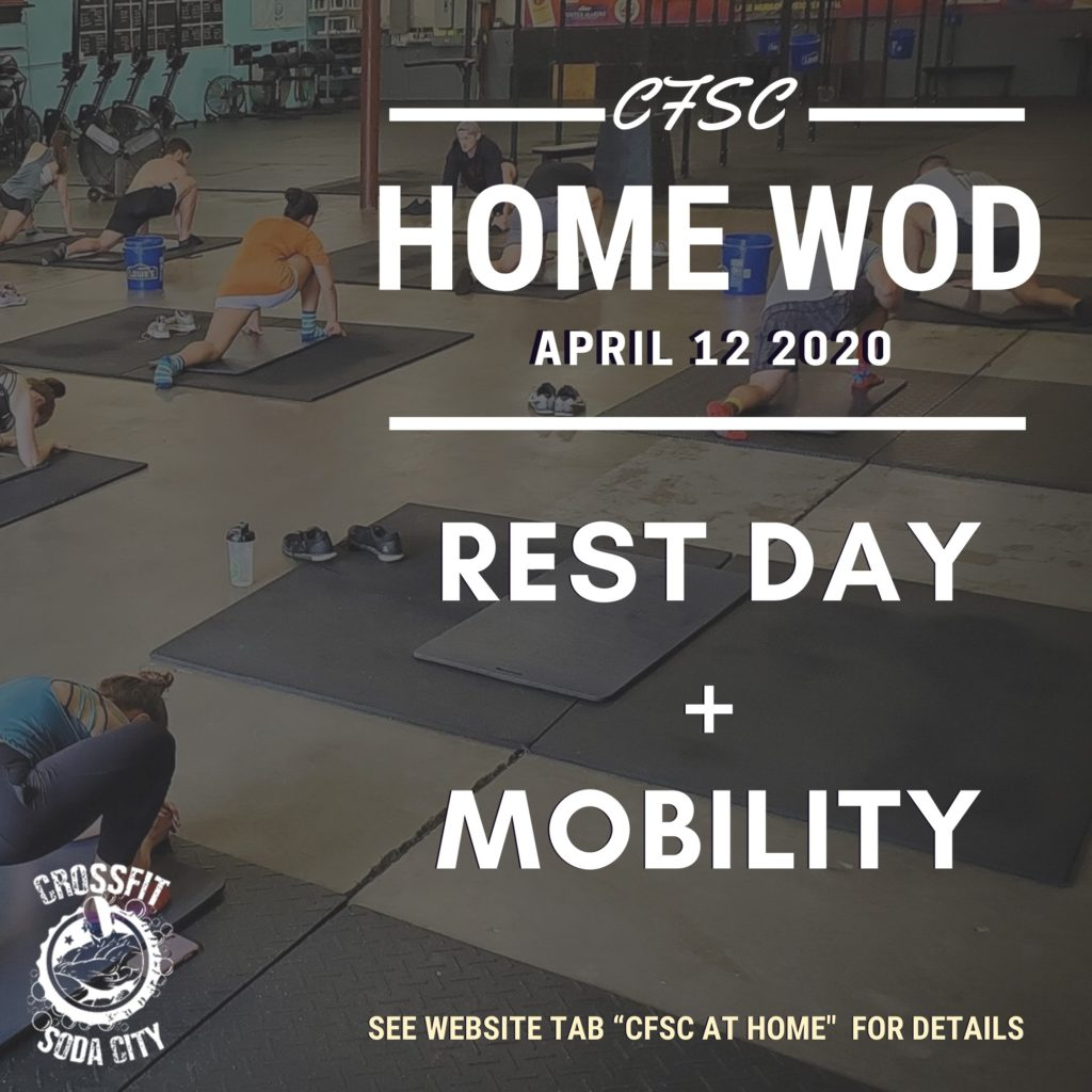 CrossFit Soda City Rest Day