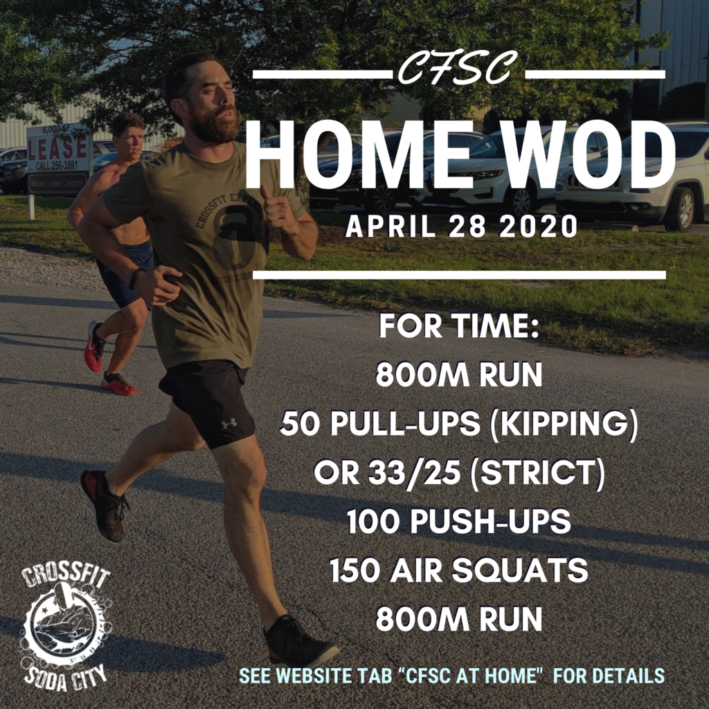 CrossFit Soda City COVID 19 updates
