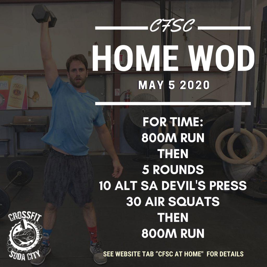 CrossFIt Soda City workout for Cinco de Mayo