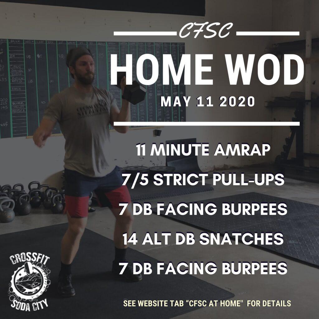 CrossFit Soda City Monday, May 11th