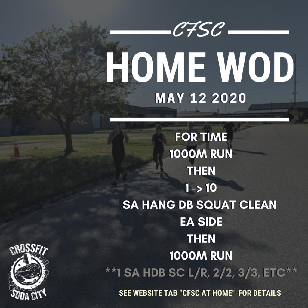 CrossFit Soda City WOD - Tuesday, May 12th