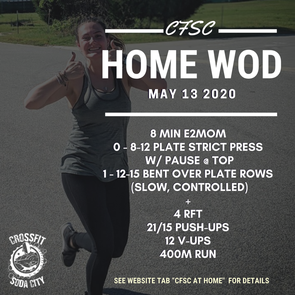 CrossFit Soda City Workout - Wednesday, May 13th