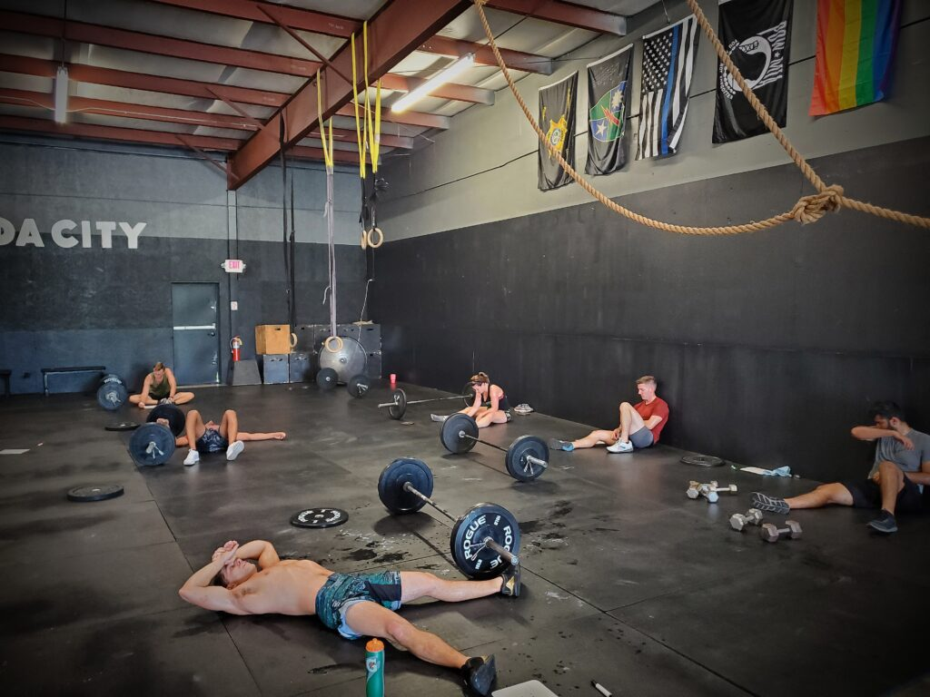 The time of year where CrossFit Soda City become Sauna City.