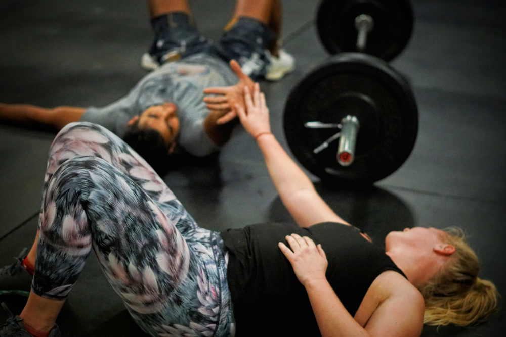CrossFit Soda City Members Lindsey & Prashant.