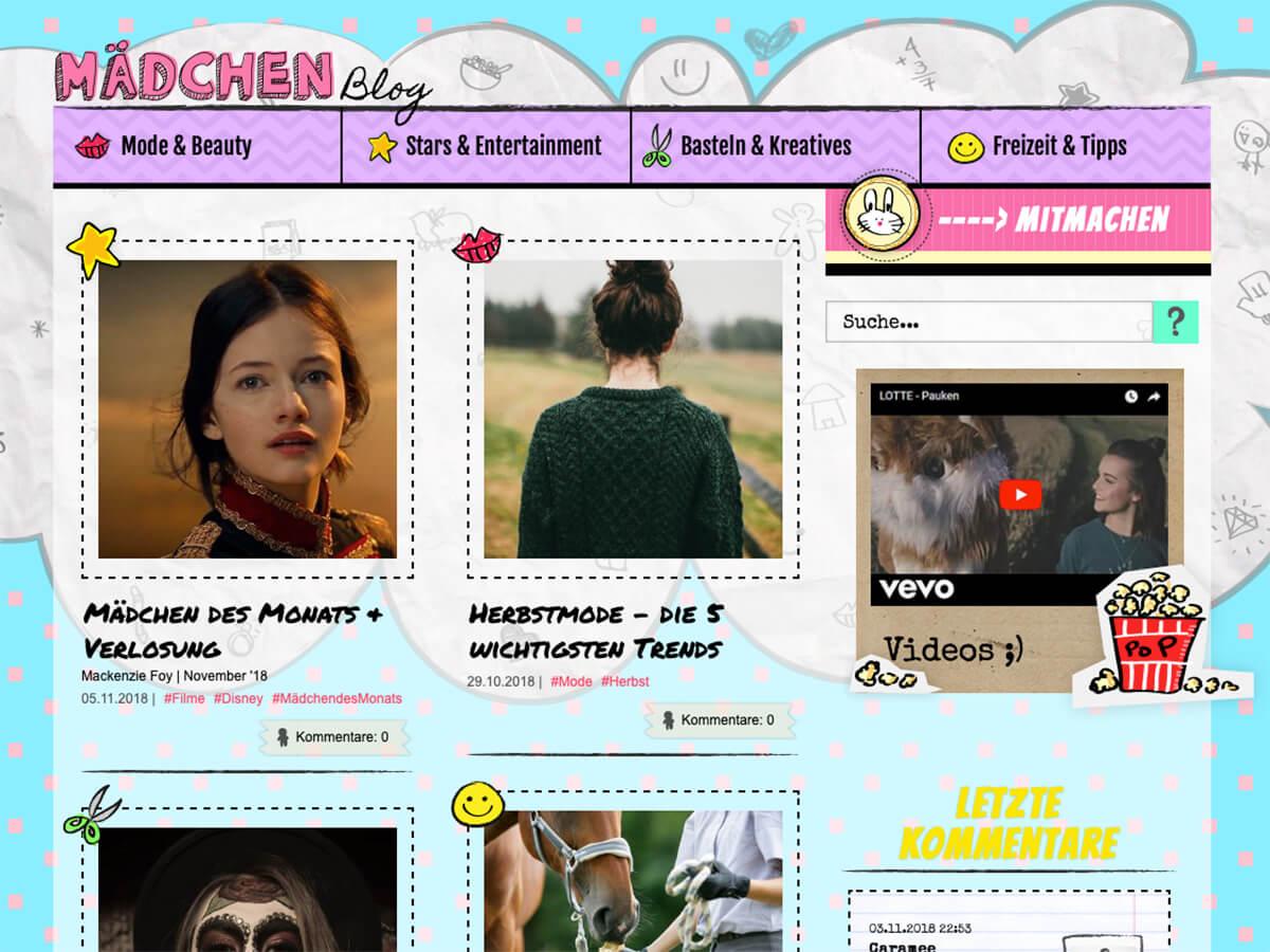 Website: Mädchenblog