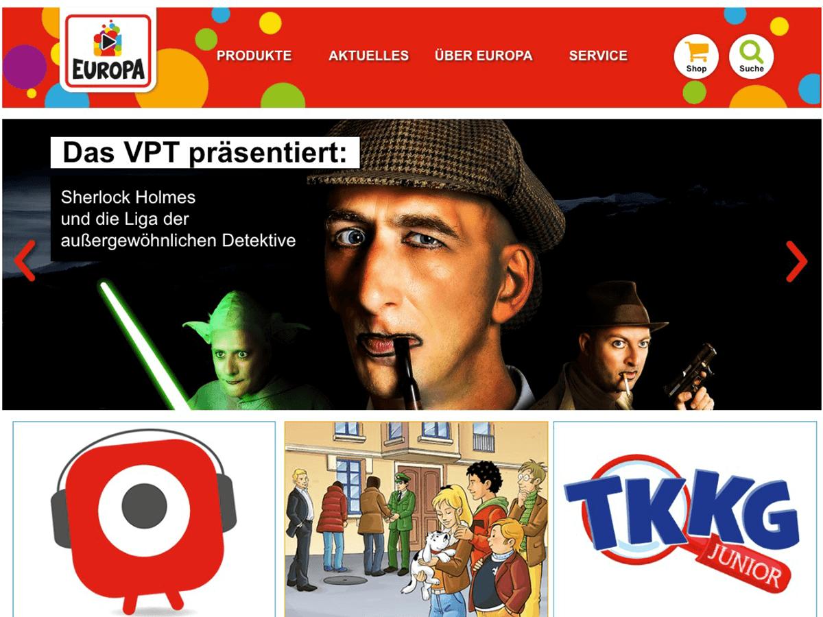 EUROPA Kinderwelt entsteht als Website