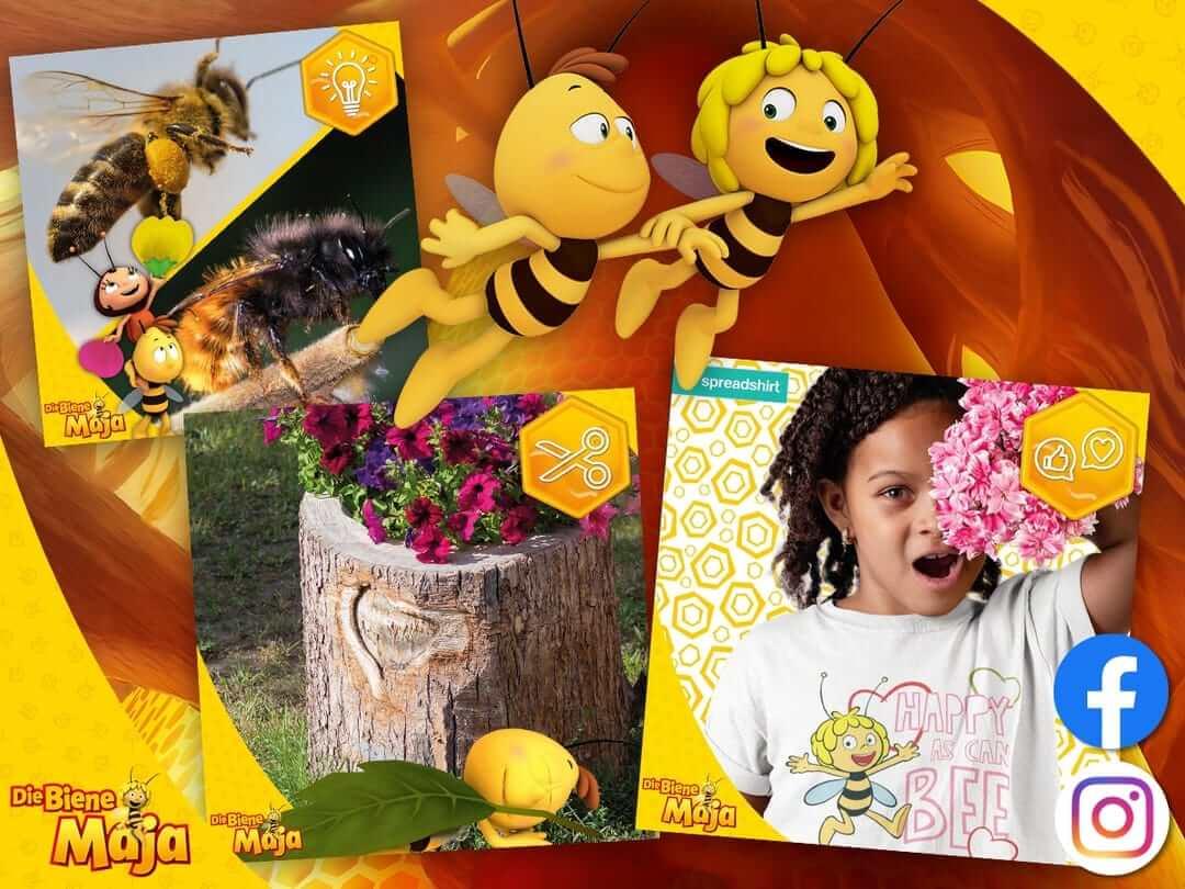 Die Biene Maja ist auch der Überflieger bei Instagram & Co.