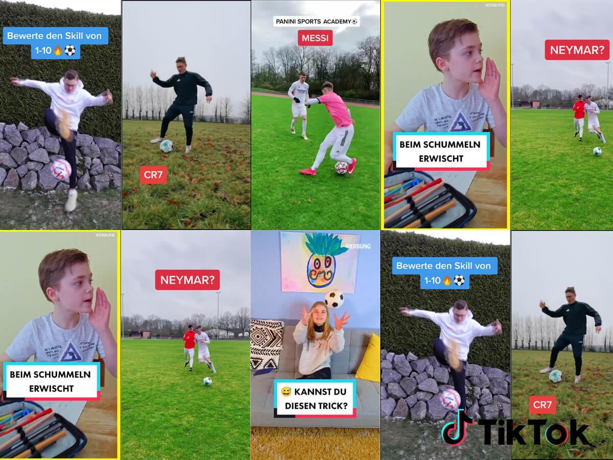 Die Panini Sports Academy gewinnt die TikTok Meisterschaft! Ein Volltreffer in die Zielgruppe.