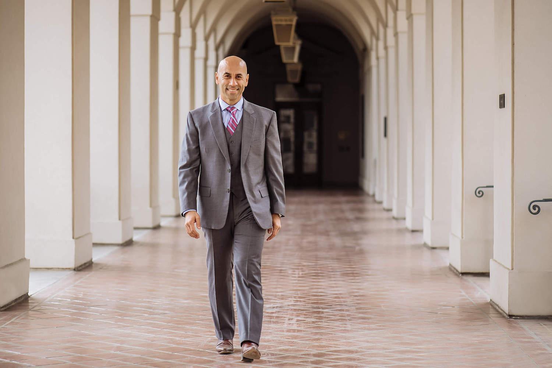 Haytham Faraj walking