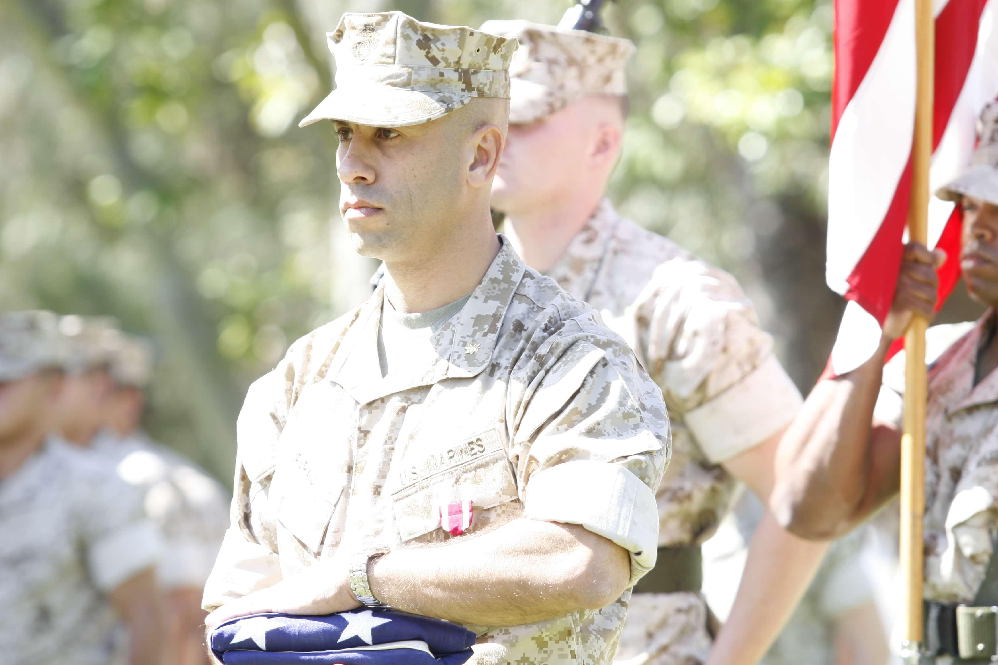 Haytham Faraj in marine attire