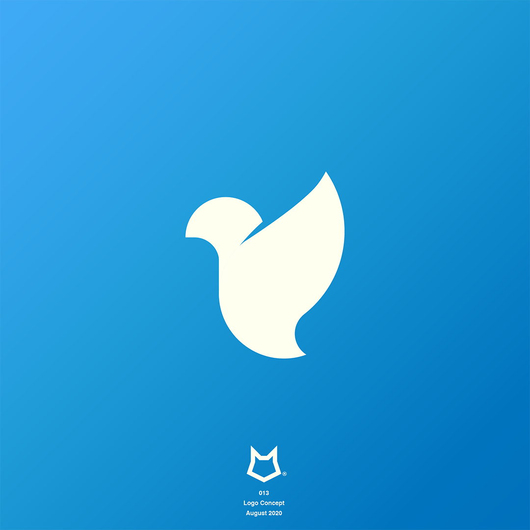 Two Wolves bird logo Instagram link