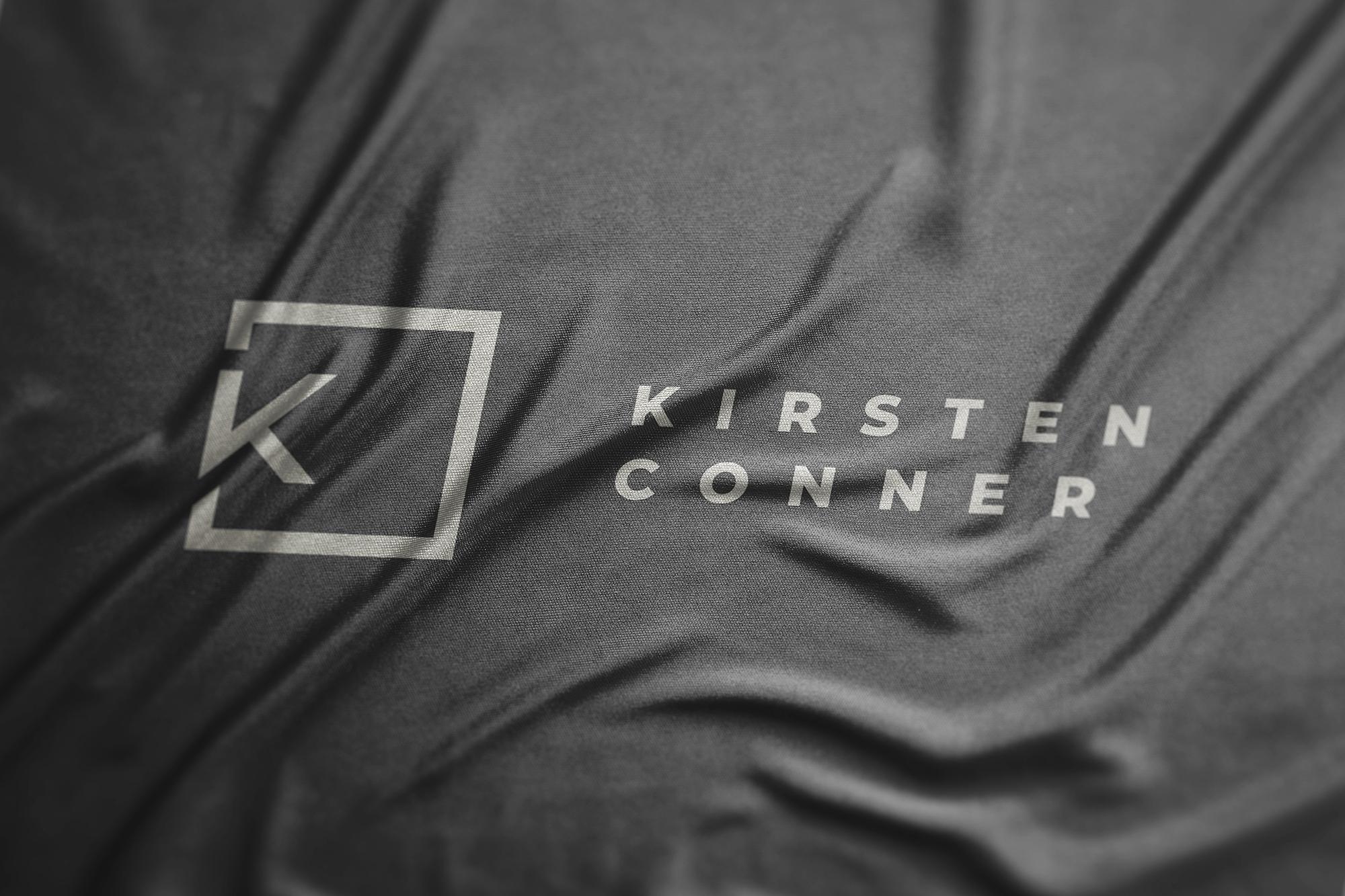Kirsten Conner logo fabric