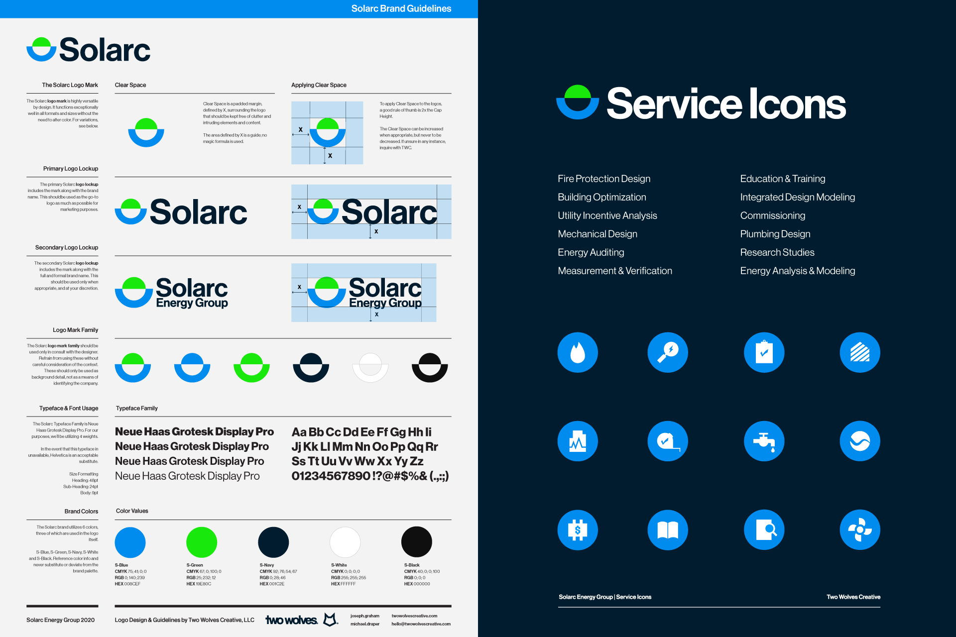Solarc guidelines and website icons