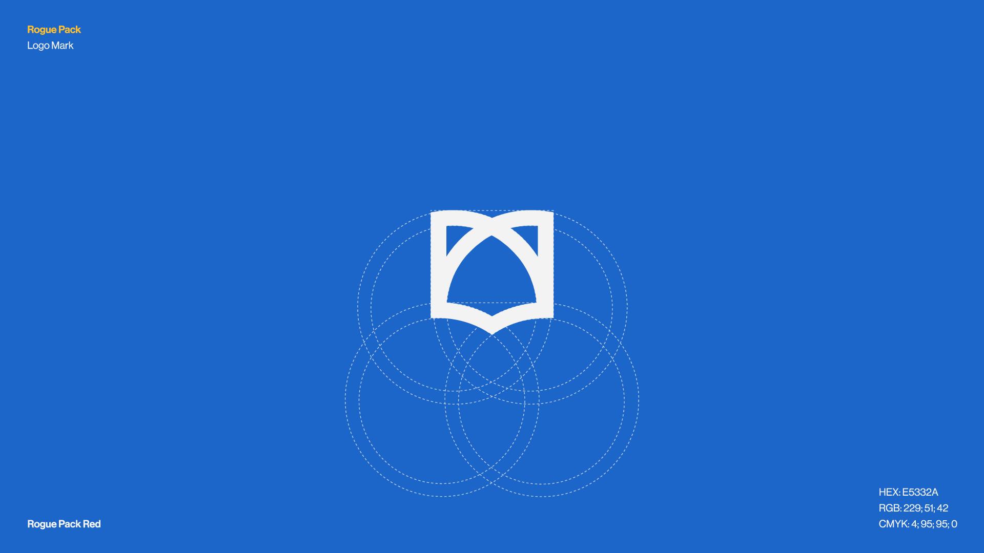 Rogue Pack logo grid. Modern Logo Design